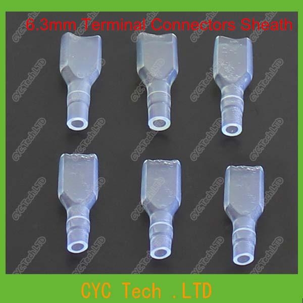 1000 pieces 6.3mm Transparent Terminal Connectors Sleeve/Sheath(China (Mainland))