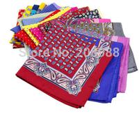NEW ARRIVAL! Fashion Dot / Paisley Silk Pocket Square Men's Pockey Hanky Handkerchief 23 Colors in stock Free Shipping #1752