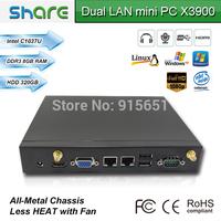 multi-ports Desktop Mini Computer C1037U X3900,6*USB/2*Lan ports/1*COM/HDMI/VGA,8GB RAM 320GB HDD