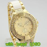 2013 New Free Shipping Luxurious Japan Movement luxury Brand Quartz Watch Women's Fashion ceramic rhinestone Dress Wrist watch