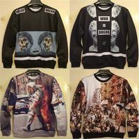 "new stage photo of ""Gangs of New York"" / Astronaut on fire printed sweatshirt women hoodies vintage retro american top pullovers"