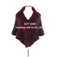 BG30485  3 Color Top Fashion Genuine Mink Fur Shawl WithTassels Wholesale Retail Knitted Mink Fur Shawls