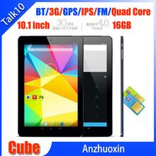 Cube Talk10 U31GT WCDMA 3G SIM Card Internet 10.1 inch Bluetooth GPS IPS Quad Core 1.5GHz 16GB Cell Phone Tablet Free Shipping