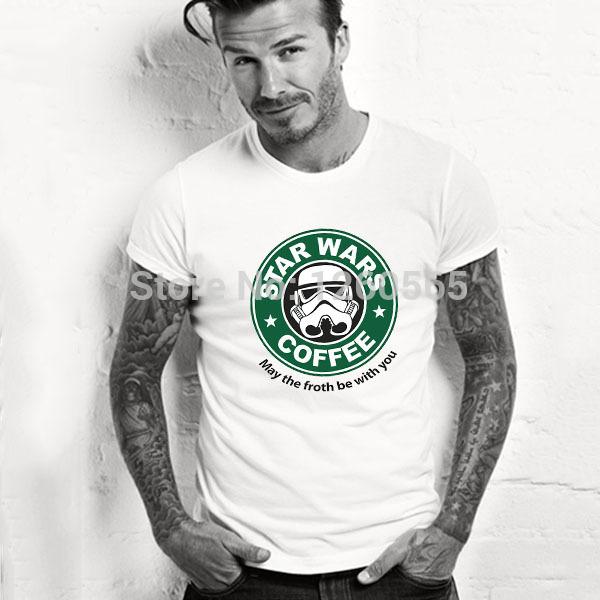 Cool personlized star wars t-shirts darth vader t shirt funny design customized men tee shirts top cotton star wars shirts(China (Mainland))
