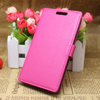 Hot pink Folio Wallet Flip Leather Case Cover +LCD Film for LG Optimus G3 D850 D855 b