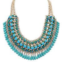 [Retail Jewelry ] 4 color Necklaces& pendants Trendy bubble bib choker chunky statement necklace women jewelry Free Shipping
