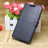 Black Folio Wallet Flip Leather Case Cover +LCD Film for LG Optimus G3 D850 D855 a