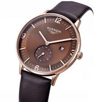 GUANQIN Fashion waterproof leather belt men watch men watch sports business fashion trends quartz watches
