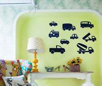 Various cartoon car children's room bedroom living room home decor wall stickers PVC trade carved custom M490