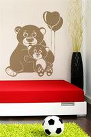 Baby Bear Balloon nursery bed children's room home decor wall stickers PVC trade generation custom M496