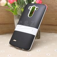 Mix Hard Soft Rubber Cover Case + Film for LG Optimus G3 F400 D850 D855 LS990 d