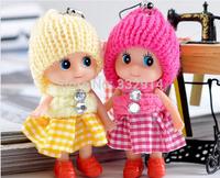 8cm Cute Princess Doll Stuffed Toys / Mini Ddgir /Phone Hanging Christmas Gifts for Girls Children Drop Free Shippin