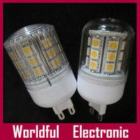 SMD5050 LED BULB high bright lamp 24LED 4W 85-265VAC 10-30VDC small Corn Bulb Light E14 E27 G9 B22 Base