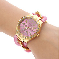 Geneva Stainless steel Golden Crystal Stone Quartz Ladies/Women/Girl Jelly Wrist Watch Candy Colors Free Shipping
