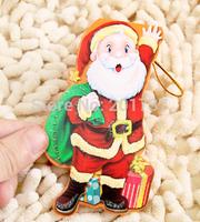 wholesales  1000pcs/lots 2014 Christmas greeting card Snowman Santa Claus Cute folded  -free shipping