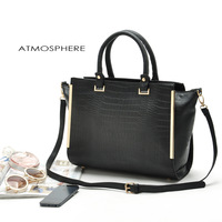 one piece retail 100% high quality pu england OL business handbag  big capacity women messager bags item no:82077