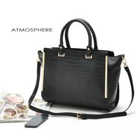 one piece retail 100% high quality pu england OL business handbag  big capacity women messager bags item no:82077