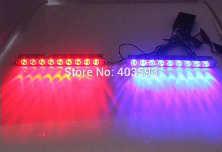 Wireless remote control flash strobe light 9LED*2 18led red blue white light(China (Mainland))
