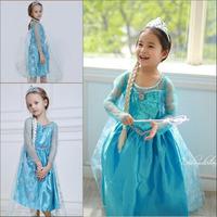 Wholesale 5ps/lot In Stock New 2014 Frozen Dress Elsa & Anna Summer Dress 2-10 Girl Princess Dresses Kids Evening Dress