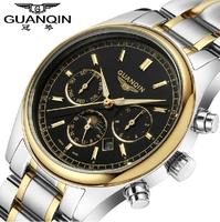 2014 New Fashion Casual Tourbillon Automatic Watch Men Luxury Wristwatch Original Brand GUANQIN Full steel Mechanical Watch