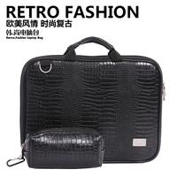 "Crocodile Texture Luxury Leather Lady's Laptop Sleeve Bag Handbag Notebook Bag for Macbook Air, Pro, 11 13 15"""