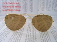 Classic Vintage RB 3025 3026 Aviator Sunglasses Colorful Coating Optical Glasses UV400 Retro Sun Glasses Eyeglasses Eyewear