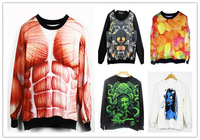 Mucsle Candy Zombie Unisex Thin Sweaters Fall Winter Sweatshirts One Size Multiple Styles Sexy Printed Hoodies