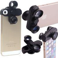 4 in1 Fish Eye Wide Angle Macro Lens Self-Timer Fisheye Camera For iPhone 5 5S