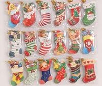 20pcs/lots2014 Folding card  socks for Christmas CARDS modelling Christmas tree decoration pendant -free shipping