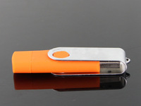 Hot Sale Swivel Dual OTG USB Flash Drive 64GB 32G 16G 8G 4GB OTG external storage Pendrive Smart Phone Flash Card