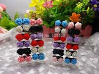 2400 Pairs Women Girls Delicate Charming Resin Rose Flower Jewellery Stud Earrings