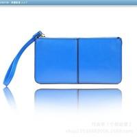 New Style genuine leather zipper purse women cowhide multifunctional clutch bag long design handbag free shipping