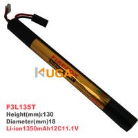 HK register free shipping 100% Orginal FireFox11.1V 1350mAh Li-ion Airsoft Stick Battery 12C F3L135T