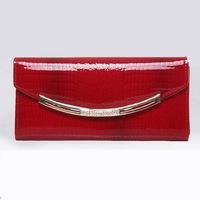 2014 new design fashion genuine leather women crystal day clutch wallet evening bags handbag Crocodile Pattern envelope clutch