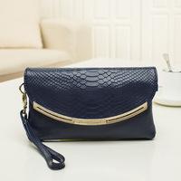 2014 new design fashion genuine leather women diamond day clutch wallet evening bags handbag Crocodile Pattern envelope clutch