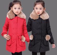 winter children clothing children girls print  faux fur coat kids cotton-padded jacket