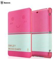 For Apple iPad Mini Retina BASEUS Mood Diary Case Series Smart Cover Flip Protective Leather Case Cover For iPad Mini Free Ship