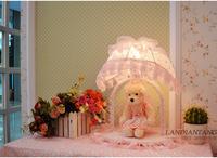 Free shipping cute cartoon children bedroom berth lamp ikea pink princess bears chandeliers