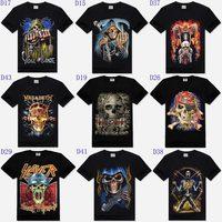 Skull Fashion Designed Novelty Men Loose Short Sleeve Cotton O-neck Top T-shirt Tees 3d T shirt Men 29 Model Plus Size XXXL