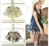 5pcs/lot~Fashion girl floral culottes baby underwear