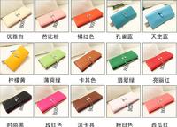 Free shipping gentlewoman wallet fashion ladies wallet PU women's long design wallet