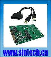 NGFF M.2 B+M Key SATA or mSATA SSD to SATA III Adapter card+USB 3.0 SATA cable