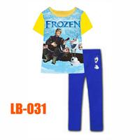 15 Oct Boys Frozen Friends Clothing Set Kids Autumn -Summer Pajamas Sets New 2014 Wholesale Children Cartoon Pijamas LB-031