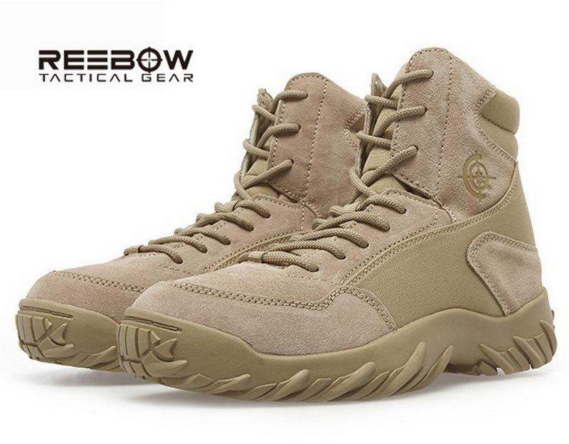 nós reebow exército tático botas militares dos homens sapatos de combate deserto soldado homens exterior caminhadas camping montanhismo inicialização escalada(China (Mainland))