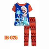 15 Oct Girls Elsa Princess Clothing Set Kids Autumn -Summer Pajamas Sets New 2014 Wholesale Children Frozen 2-7Y Pijamas LB-025
