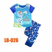 15 Oct Boys Snowman Olaf Clothing Set Kids Autumn -Summer Pajamas Sets New 2014 Wholesale Children Frozen 2-7Y Pijamas LB-026
