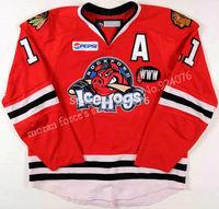 2007-08 Colin Fraser Jersey AHL ICE Hockey Rockford IceHogs Jerseys Game Worn - Customized IceHogs Jerseys