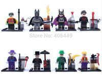 Avengers Batman Joker Catwoman Robin 8PCS/set Minifigure SY171 Super Hero  DIY Building Block toy  Compatible With Lego T84