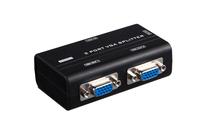 2 Port VGA Splitter 250MHz HD 1920X1440 KVM Switch Video Signal Monitor Amplifier Black 30 Meters Stackable