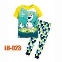 15 Oct Boys Snowman Olaf Clothing Set Kids Autumn -Summer Pajamas Sets New 2014 Wholesale Children Frozen 2-7Y Pijamas LB-023